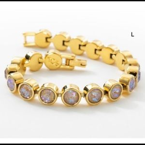 Touchstone Crystal Golden cappuccino ice bracelet